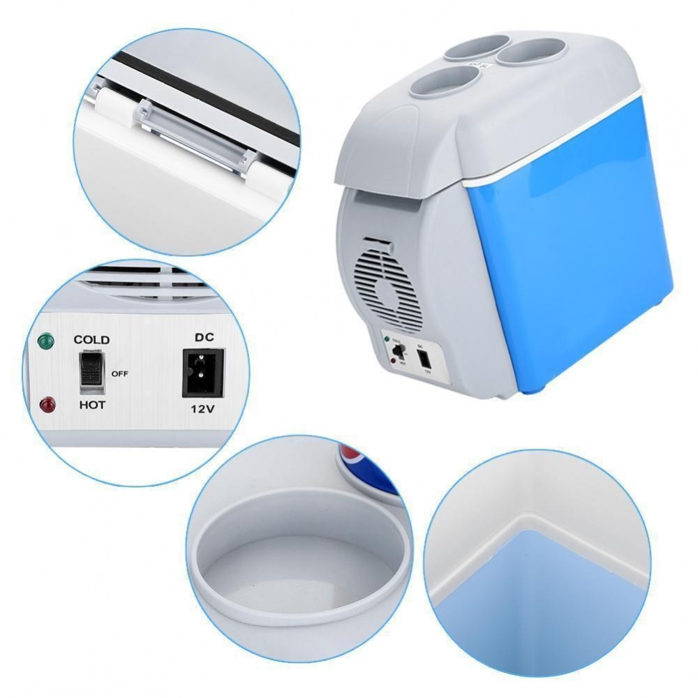 Mini frigorifero frigo portatile 7,5 litri 12v scaldavivande auto barca camper