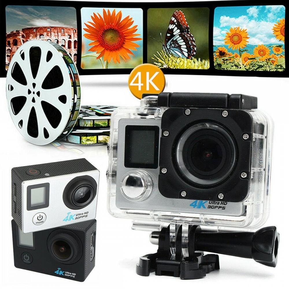 Pro cam wifi 2k 16mp doppio schermo sport action camera telecomando impermeabile