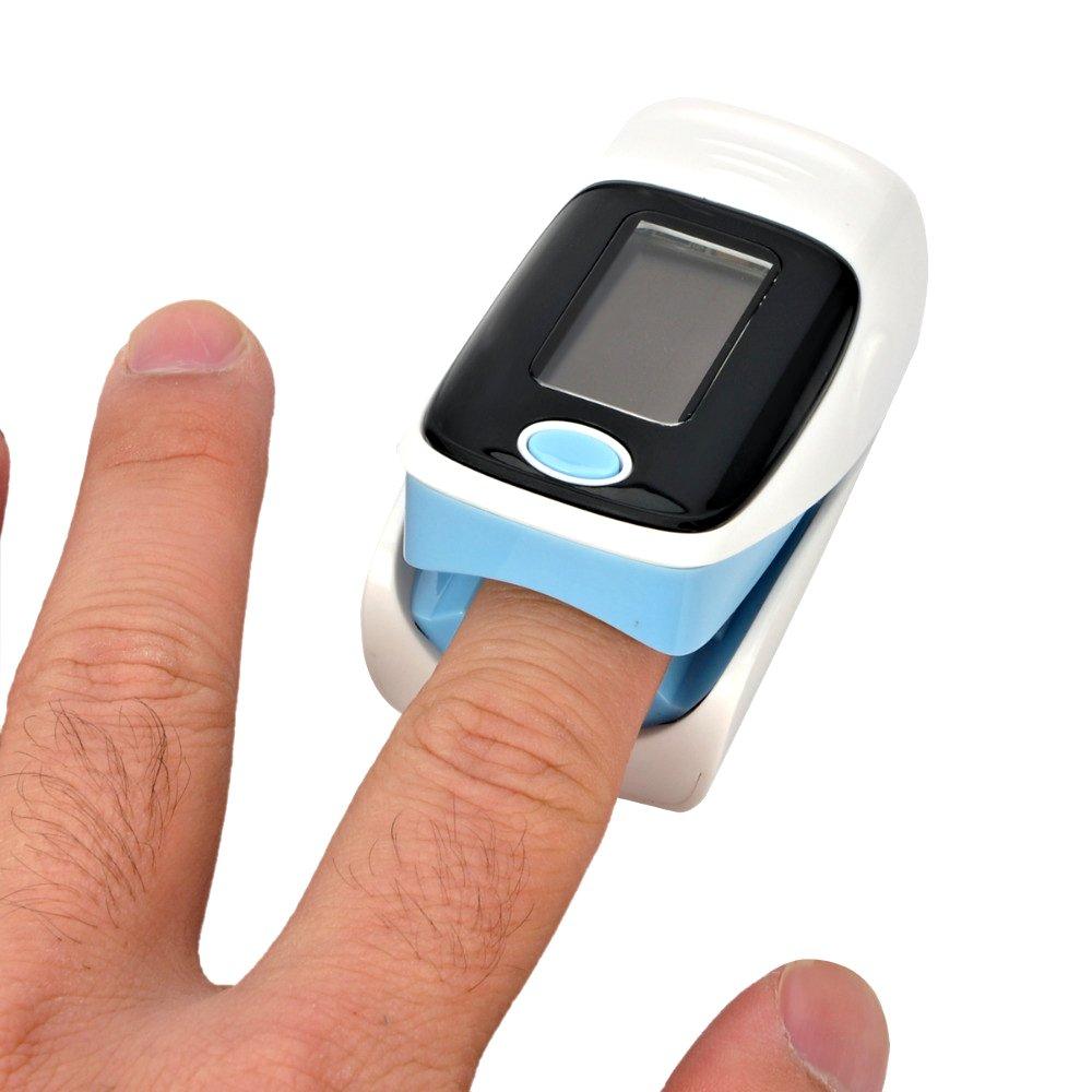 Misuratore di ossigeno portatile da dito pulsossimetro ossimetro saturimetro