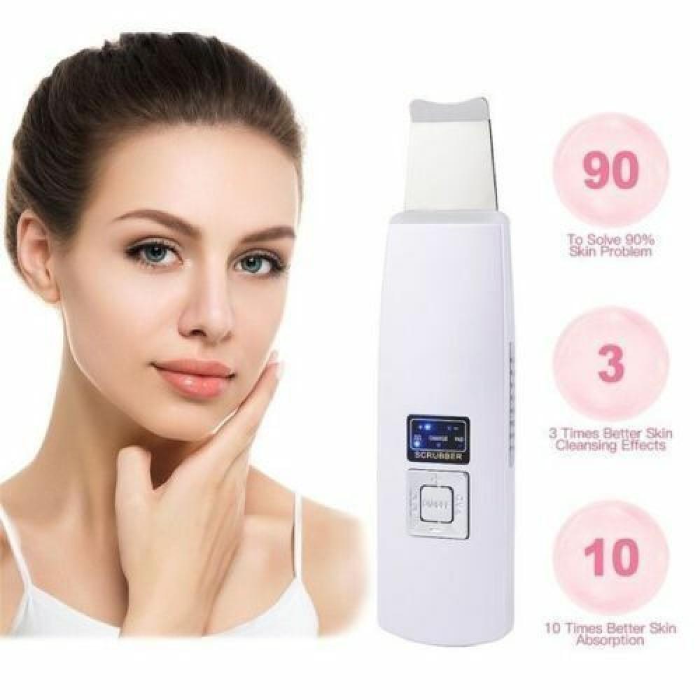 Spatola ultrasuoni pulizia viso e pelle elimina punti neri peeling estetica