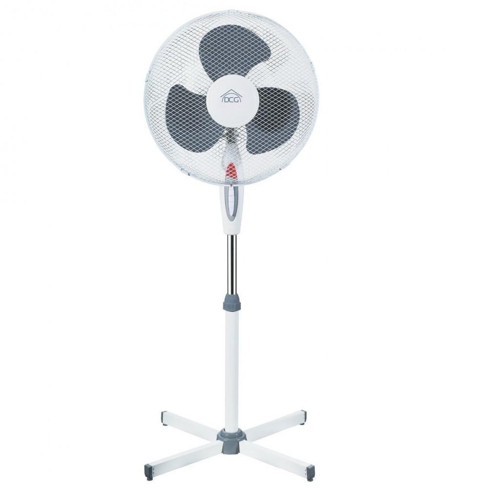 Ventilatore a piantana terra colonna 45w pale 40cm 3 velocita altezza regolabile