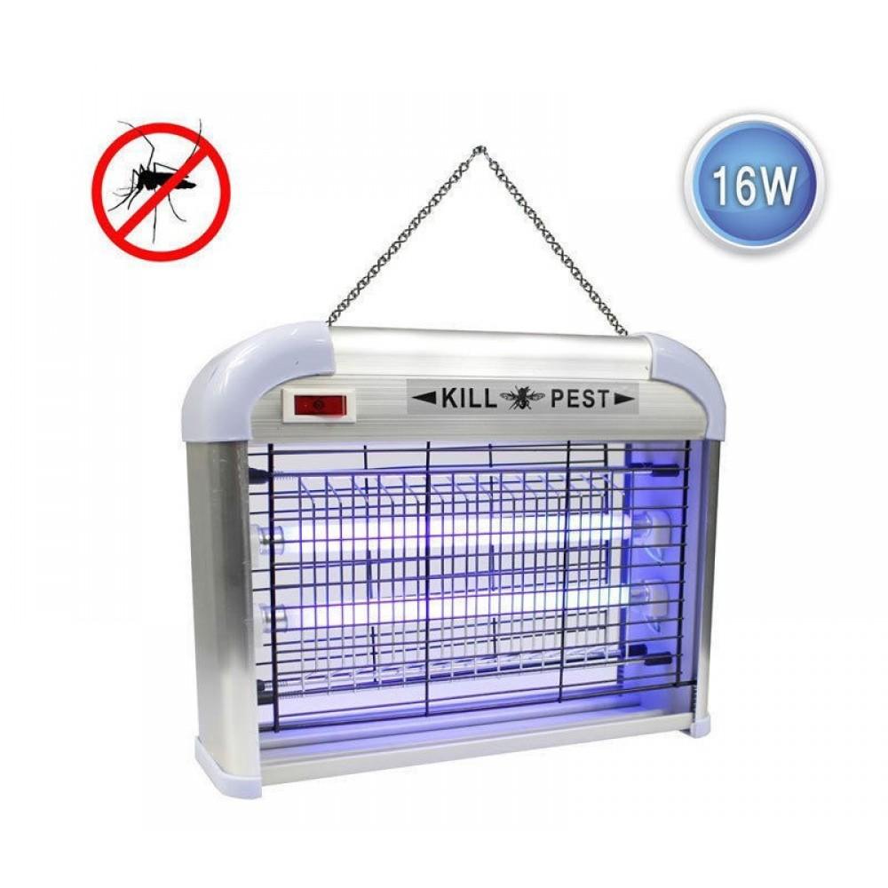 Zanzariera elettrica fulmina ammazza zanzare mosche insetti 2 lampade 16w